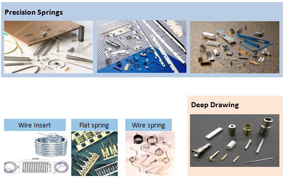 Precision spring engineer; flat spring; sub assembly; insert coller; deep drawing