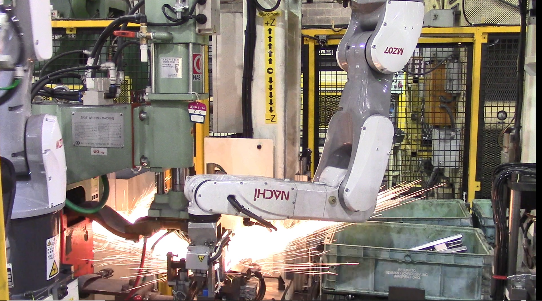 ロボットを使用した設備